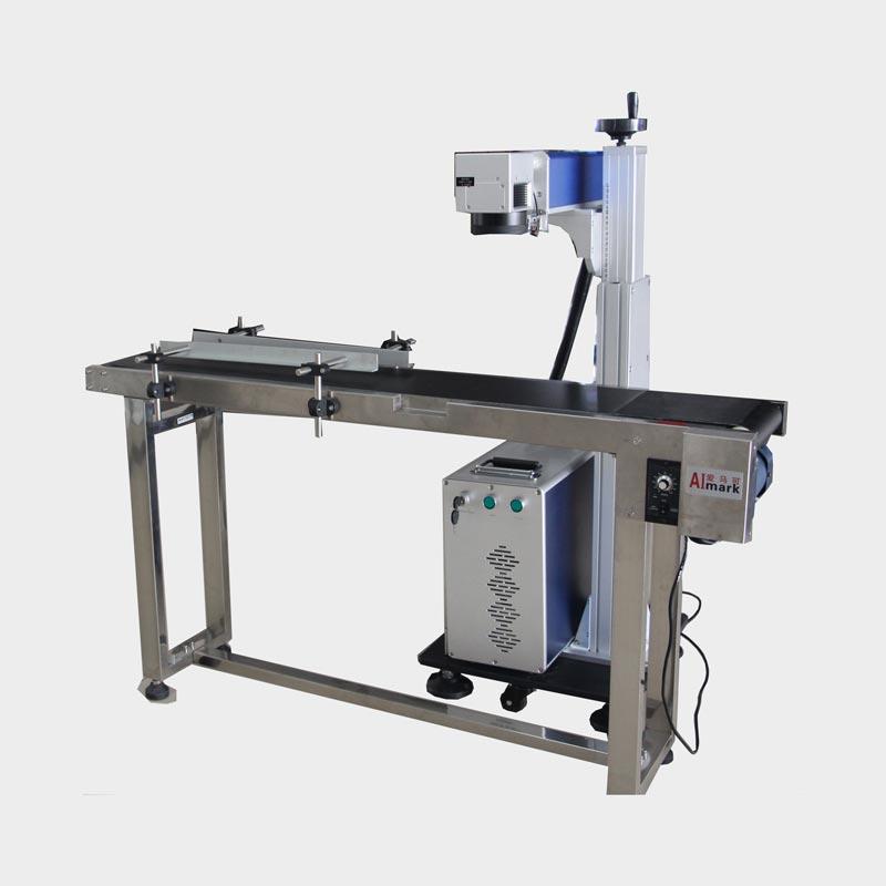 LX-A301 Best Online Fiber Laser Marking Machine with Conveyor Belt for Sale